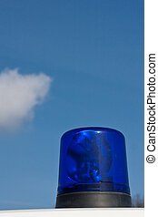 Blue ambulance light (2)
