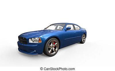 Blue American Car