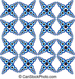 blue amulet line vector art