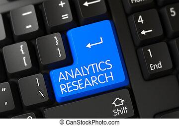 Blue Analytics Research Keypad on Keyboard. 3D.