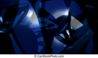 Blue and black lights