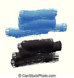 blue and black paint stroke stain