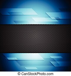 Blue and black tech background