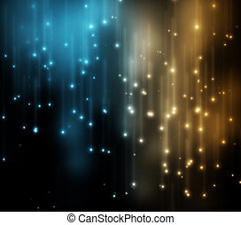 Blue and gold lights background