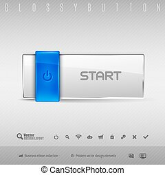 Blue and Gray Button