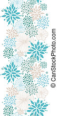 Blue and gray plants vertical seamless pattern background -...