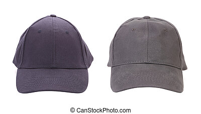 Blue and Gray working peaked caps.