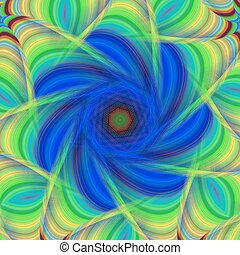 Blue and green abstract fractal background