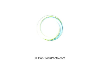 Blue and green abstract ring logo video animation - Blue and...