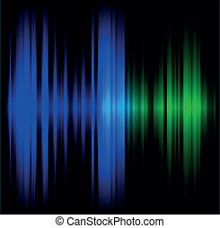Blue and green abstract wave dark