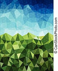 Blue and green background with circle pattern