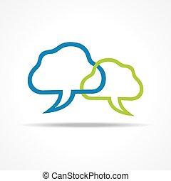 Blue and green Chat Icon stock vect