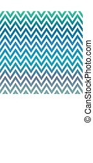 Blue and green chevron pattern background