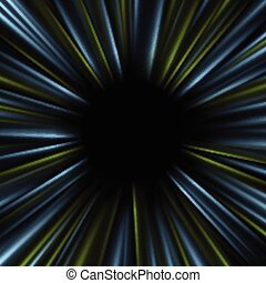 Blue and green dark glowing abstract beams background