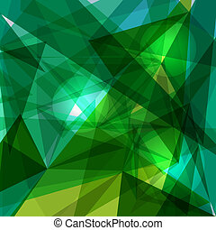 Trendy green and blue transparent triangles abstract background illustration. EPS10 vector with transparency organized in layers for easy editing.