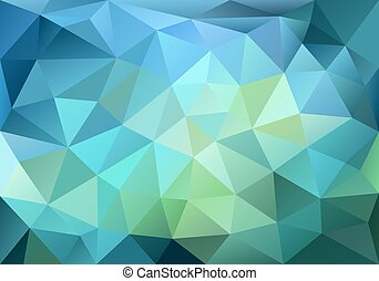 Blue and green low poly background