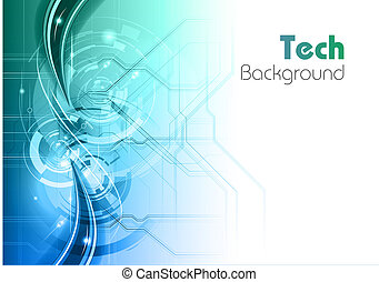 blue and green tech background