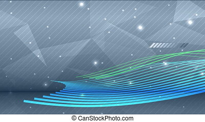 Blue and green wave on abstract background