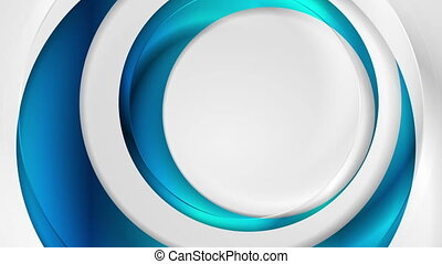 Blue and grey abstract glossy circles video animation