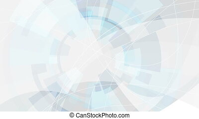 Blue and grey digital technology futuristic video animation