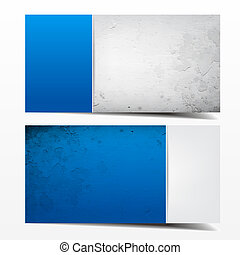 Blue and grey grunge card template