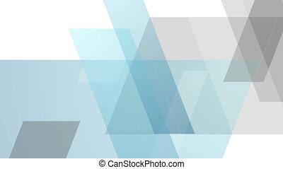 Blue and grey tech minimal geometric video animation - Blue...