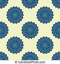 Blue and light yellow seamless pattern