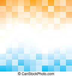 Blue and Orange Abstract Background