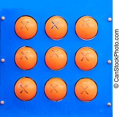 blue and orange board