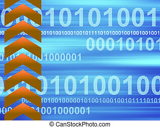 Blue and orange business background