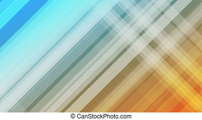 Blue and orange diagonal stripes abstract video animation -...