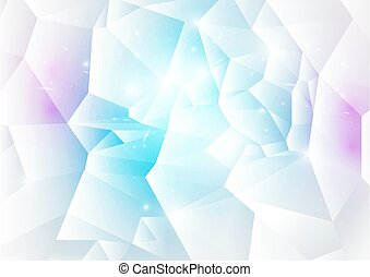 Blue and pink abstract low polygonal background