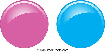 Blue and Pink Buttons