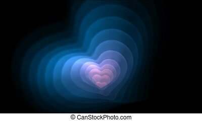 Blue and pink fractal heart,good for valentine day.1080p