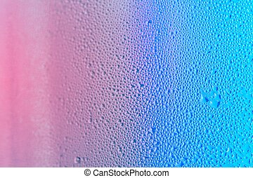Blue and Pink Water Drops
