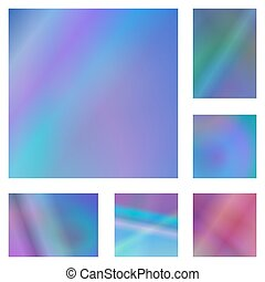 Blue and purple abstract background set - Blue and purple...