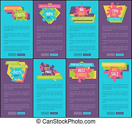 Blue and Purple Internet Posters with Sale Offer