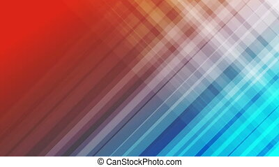 Blue and red diagonal stripes abstract video animation