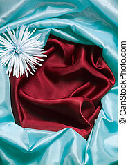 blue and red silk background
