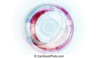 Blue and red technology sci-fi motion graphic design - Blue...