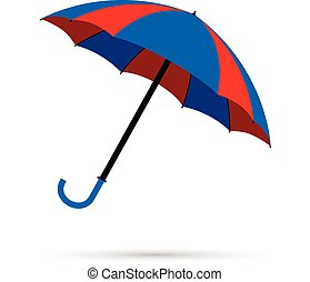 blue and red umbrella