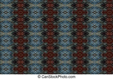 Blue and rust jacquard design