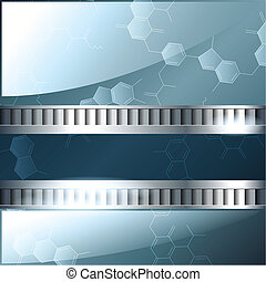 Blue and silver science banner