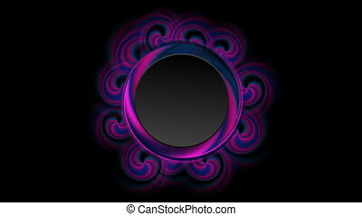 Blue and ultraviolet abstract circle swirl video animation -...