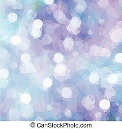 Blue and violet Festive background - Low poly illustration...