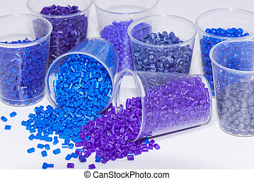 blue and violet polmyer resin - some blue and violet dyed...