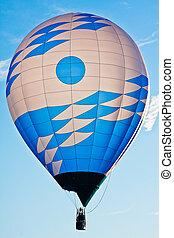 Blue and White Balloon 4