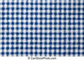 Blue and White Checked Napkin Pattern Background
