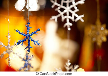 Christmas stars - Weihnachtssterne - blue and white...