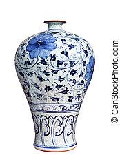 blue and white decorative porcelain vase